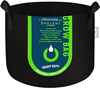 OPULENT SYSTEMS 重型增氧织物长袋加厚无纺织物容器适用于土豆/植物盆,带手柄(黑色). 2-Pack 45 Gallon 4846cccf2bfaa8f3586070fb6ee52c34