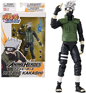 Bandai 万代 36903 动漫英雄-火影忍者Hatake卡卡西-动作人物模型,15厘米