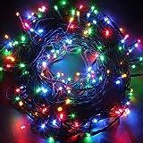 Twinkle Star 200 个 LED 66 英尺(约 1.9 米)仙女串灯,圣诞灯,带 8 种照明模式,迷你串灯…
