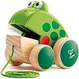 Hape E0361 Hape 青蛙拉手 | 木制青蛙飞翔幼儿玩具