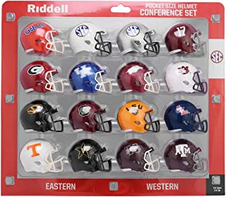 Riddell NCAA Pocket Pro 头盔,SEC 会议套装,(2020) 新款