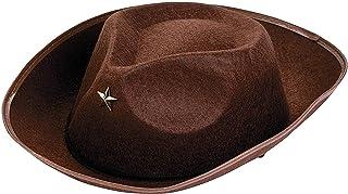 Fun Express - 棕色牛仔帽儿童派对 - 服装配饰 - 帽子 - 牛仔帽 - 派对 - 12 件
