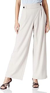 JdY 女士 JDYGEGGO 新款长裤 JRS NOOS 裤子,灰色/细节:黑色纽扣,L/34