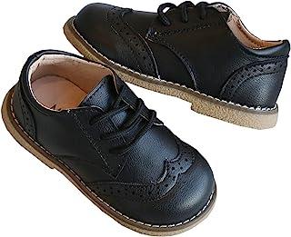 DADAWEN 男孩女孩经典系带制服牛津舒适礼服鞋乐福平底鞋(幼儿/小童)