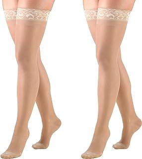 truform lites sheer15–20( 中度 SUPPORT ) mid-thigh 长度, 1774ND-M 2PK, 裸色, 1, 1