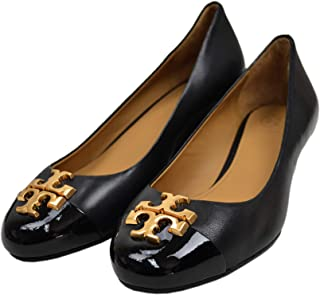 Tory Burch 女士 Everly 35 Mm 纳帕皮革开普托坡跟鞋完美黑色 004(美码 6.5)