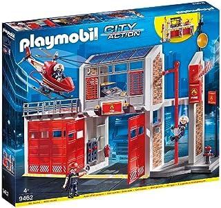 PLAYMOBIL 摩比世界 都市行动 大型消防站拼插玩具 9462,带音效,适合4岁以上儿童