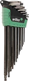 WIHA 36689 ErgoStar 梅花球端和标准 L 型钥匙套装 T5-T45 自动快速开门支架,13 件套