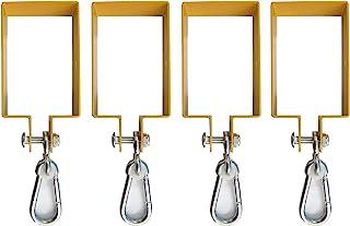 Hi Flame 重型钢制秋千挂钩,适用于木制套件,包括 4 个按扣挂钩。 用于连接到 10.24 厘米 x 15.24 厘米光束(黄色,4 件套)