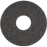 Iwachu 岩铸 釜垫 松叶 黑色 14.5厘米 南部铁器 17034