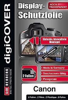 digiCOVER 基本屏幕保护膜,适用于 Canon EOS 80D 相机