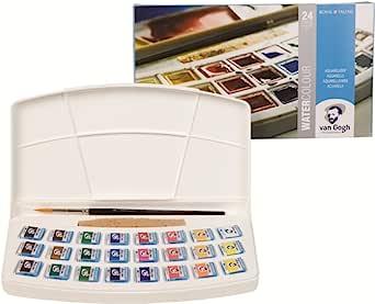Talence固体水彩颜料 Vingogo 24色套装塑料盒 T.20HP8624 半截面包