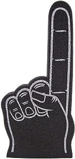 FUNSTITUTION 手指DIY空白 数字 1 泡沫手适用于所有场合 啦啦啦队绒球适用于运动激动人心的颜色运动当地体育活动游戏学校商务庆祝 Pom Poms 18 大号泡沫