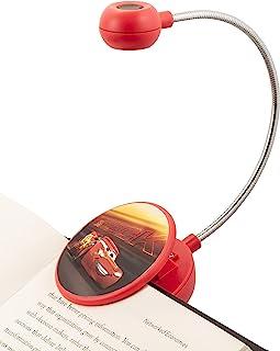 WITHit 迪士尼夹式书灯 �C 闪电麦昆 �C LED 阅读灯带夹子,适用于书籍/电子书,可调光,减少眩光,便携和轻质儿童书签灯,含电池