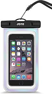 JOTO 通用防水袋手机干袋保护套适用于 iPhone 12 Pro Max 11 Pro Max Xs Max XR X 8 7 6S Plus SE,Galaxy S20 Ultra S20+ S10 Plus S10e /Note 10+...