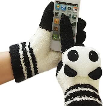 忆繁 2014新款 (I CAN TOUCH) 优质半边绒卡通 电容式触摸屏专用手套 触屏手套/双 四种花色选择  集科技和保暖为一体 有效解决冬天操作触摸屏手机和本本的冻手问题