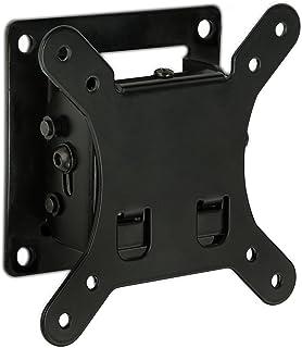 Mount-It! Tilt TV 壁挂支架 4.7cm 低调设计带快速释放功能,符合 VESA 75 和 VESA 100,钢材适合 81.28 cm 电视 30 磅承载能力,黑色