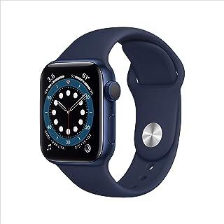 新款 Apple Watch 系列 6 (GPS,40mm) - 蓝色铝制外壳带深*蓝运动表带
