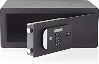 Yale YLFM / 200 / EG1电动生物识别笔记本电脑保险箱-指纹和数字密码访问,激光切割门,安装螺栓-内部尺寸:190 x 467 x 280毫米