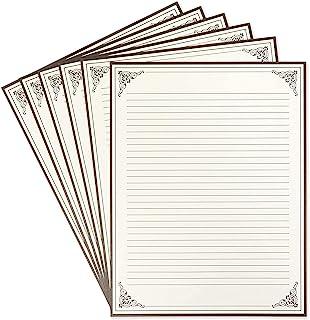 复古文具纸 - 内衬书写纸,古董信纸,非常适合书写诗、歌词和字母,21.59 x 27.94 厘米 奶油色 96 Pack 43235-21727