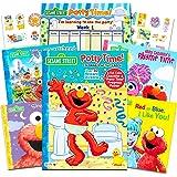 Sesame Street Elmo 婴儿马桶训练书*套装 - 包括进度图、海报、*励贴纸和附加的芝麻故事书(ABC、颜…