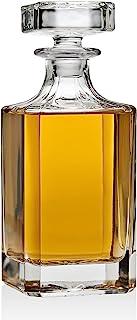 Whiskey Decanter 适用于Liquor Scotch Bourbon 或葡萄*,非铅水晶 - 750ml