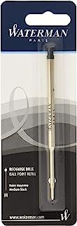 Waterman 威迪文圆珠笔 油性笔替芯M 中号 3支套装 黑色