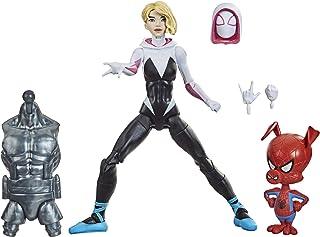 Hasbro 孩之宝 漫威传奇系列 蜘蛛侠:蜘蛛侠:平行宇宙 Gwen Stacy 6 英寸(约 15.24 厘米)可收藏的可动公仔玩具,带蜘猪侠迷你公仔