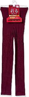 Atsugi 8分裤 Oriental 百合图案 穿着紧身裤 8分长 保暖 蓄热加工 防静电加工 防寒 裤子下装 女款