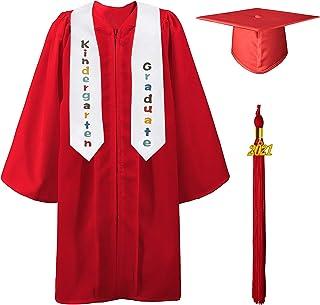 GraduatePro 幼儿园毕业帽和礼服披肩套装 2021 流苏套装