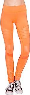 Lulu Apparel 女式无缝弹力健身打底裤 – 休闲透明网状裤紧身裤瑜伽运动健身跑步