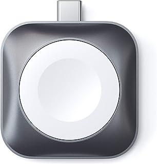 Satechi USB-C 磁性充电底座 [ MFi-认证 ] 便携式手表充电器 - 兼容 Apple Watch 苹果手表系列 5/4/3/2/1 (不含电缆)