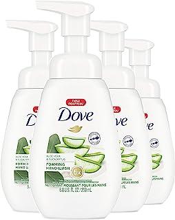 Dove 多芬泡沫液体手洗保湿无硫酸盐芦荟和桉树有效洗除*,同时滋养您的皮肤,6.8 盎司,4 件装