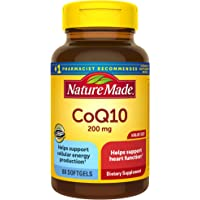 Nature Made 辅酶Q10 软胶囊,200毫克,有益于心脏,80粒