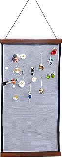 SYCOOVEN 耳环支架收纳架壁挂式珠宝收纳架饰钉装饰网眼布展示项链手链(棕色)