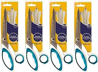 Korbond 精密裁缝剪刀,蓝色,4 件装