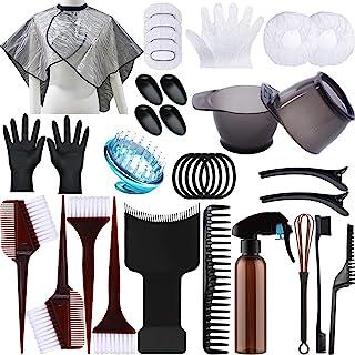 38 件*套装,*碗,染料刷,耳罩,手套适用于 DIY 沙龙*着色干燥器*工具