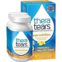 TheraTears 眼部营养素,1200mg Omega 3补充剂,亚麻籽甘油三酸酯鱼油和维生素E,90支,3盒装