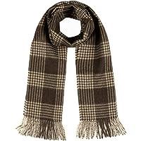 交叉横纹格子围巾 * 纯羊驼绒 - 无与伦比的奢华男女适用