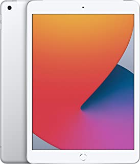 新款 Apple iPad(10.2 英寸,Wi-Fi + 蜂窝,128 GB)- 银色(*新型号,* 8 代)