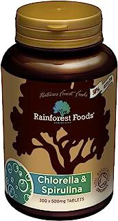 Rainforest Foods *混合小球藻和螺旋藻片剂 500 毫克 300 粒装
