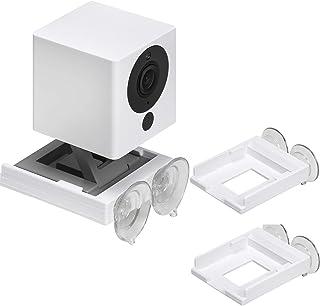 Wyze 兼容*吸盘支架,带双吸盘,允许 360 度旋转 – 与不锈钢、玻璃、镜子和光滑表面相连(2 个支架)