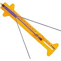 SpeedyJig XL - 超长伞绳手镯固定器套件 - 可调节钢框防滑橡胶脚 - 可轻松制作伞绳物品,长度为 10.1…
