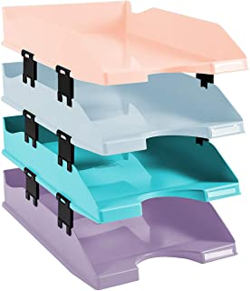 Exacompta 113296SETD 信件篮 Combo Midi 水彩 柔和颜色