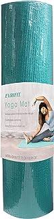 EvriFit 瑜伽垫,无乳胶健身和运动垫防滑材料,优质 5 毫米厚耐用抗撕裂 PVC