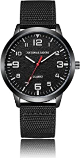 JOESON LEADERS 腕表,3 ATM 防水户外中性款手表,休闲石英,运动腕表,带尼龙/皮革表带