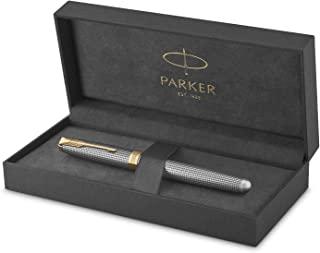 PARKER 派克 Sonnet 签字笔| 镶金凿银| 精细笔尖 黑色墨水| 礼物盒