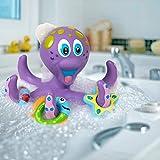 Nuby 浮动紫色章鱼,带 3 个钩环互动洗澡玩具
