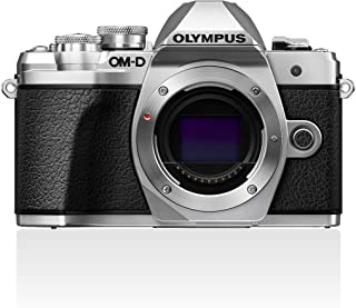 OLYMPUS 奥林巴斯 OM-D E-M10 Mark III微型四分之三系统相机,16百万像素,图像稳定器,电子取景器,4K视频,银色