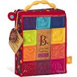 B.Toys 婴儿积木块 - 幼儿积木 - 婴儿教育玩具,适合于6个月及以上儿童,带数字,形状,动物和纹理 - 10个软…